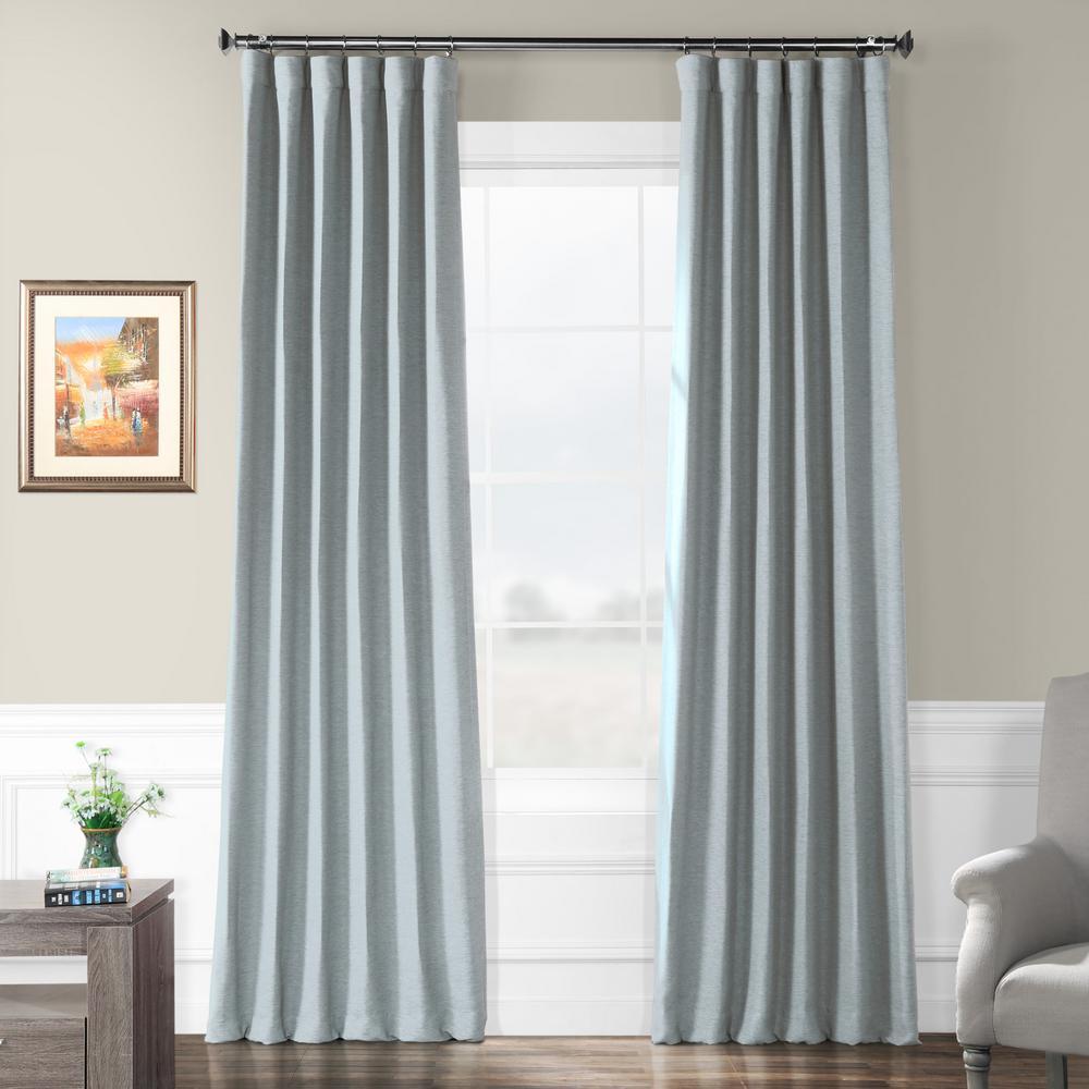 Black Room Darkening Curtains.Exclusive Fabrics Furnishings Gulf Blue Bellino Blackout Room Darkening Curtain 50 In W X 108 In L