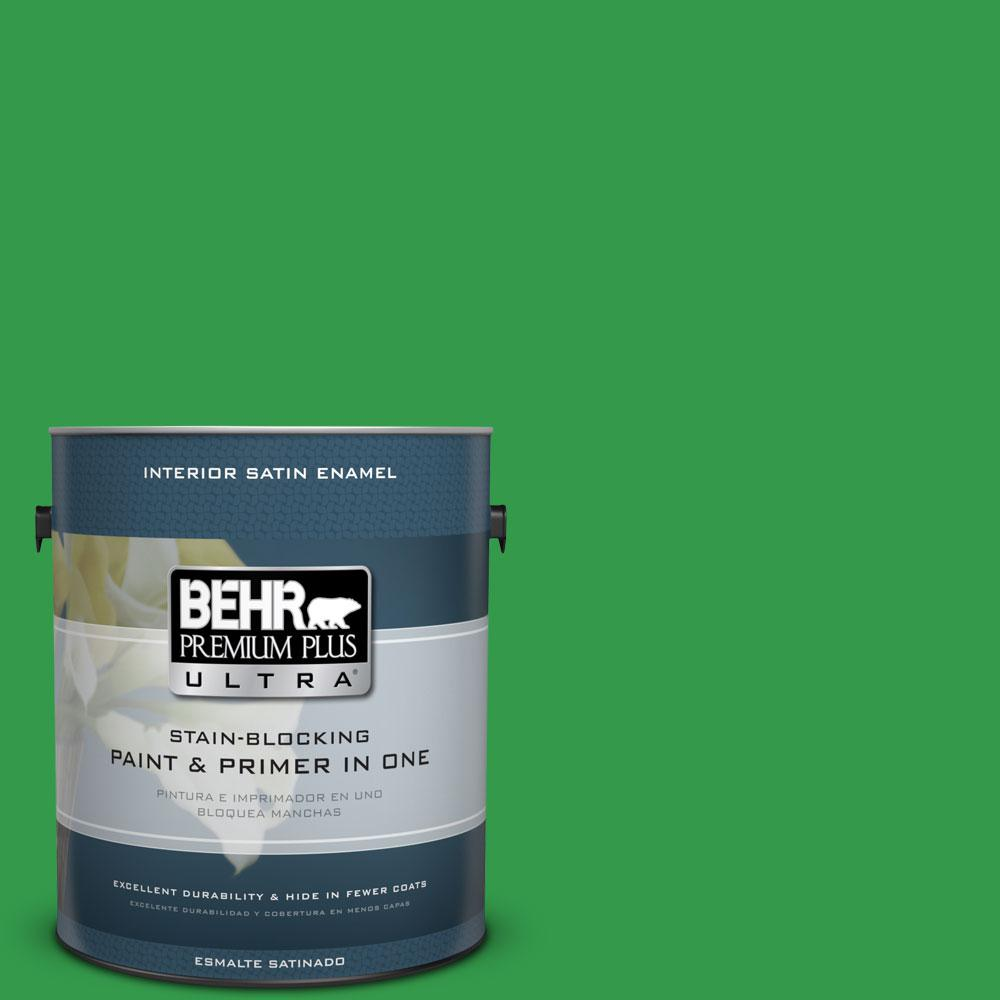 BEHR Premium Plus Ultra 1-gal. #450B-6 Formal Garden Satin Enamel Interior Paint