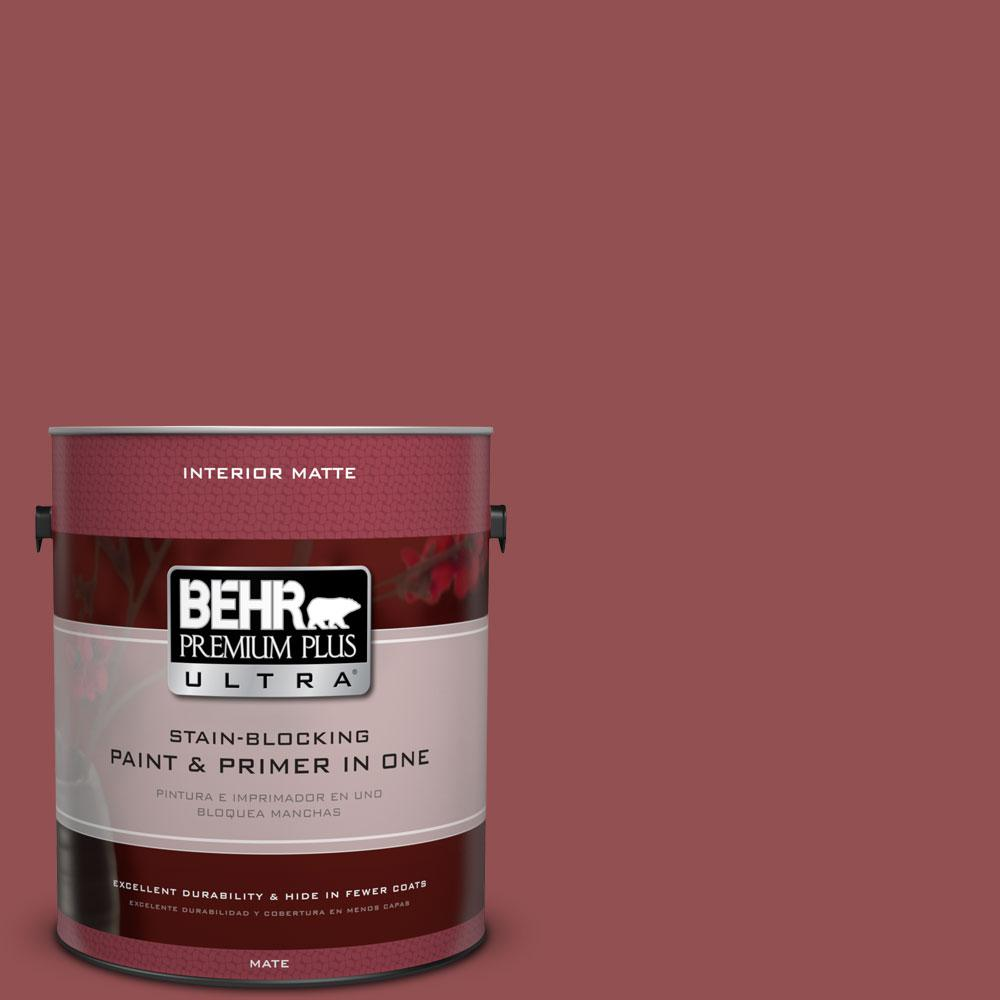 1 gal. #PPU1-8 Pompeian Red Flat/Matte Interior Paint