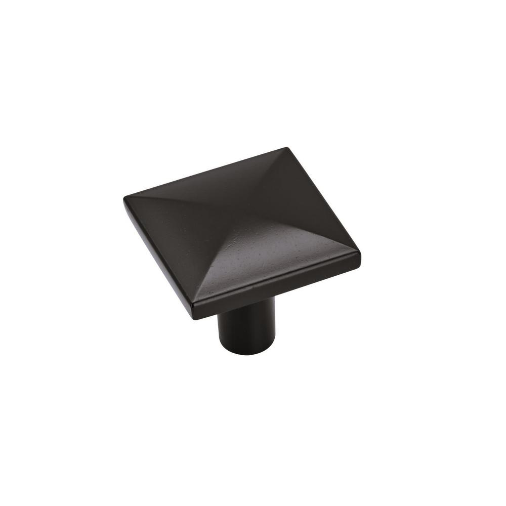 Amerock Extensity 1-1/8 in. (29 mm) Flat Black Cabinet Knob (10-Pack)