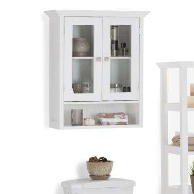 Acadian 23.6 in. W Wall Mounted Cabinet with 2 Doors in White
