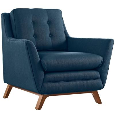 Beguile Azure Upholstered Fabric Armchair