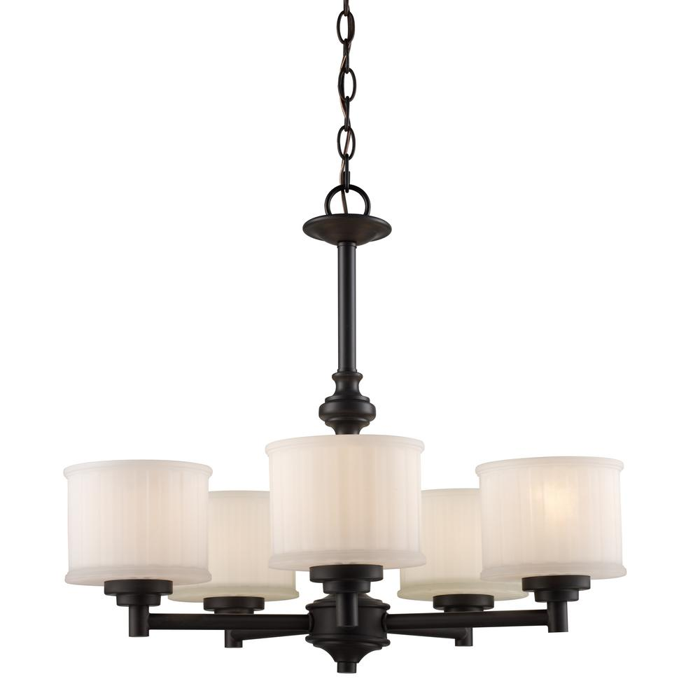 Bel Air Lighting Cahill 5 Light Rubbed Oil Bronze Chandelier