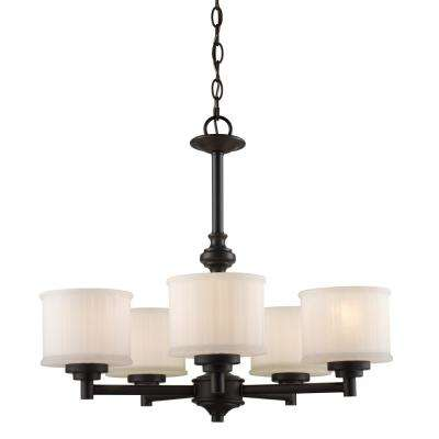 Cahill 5-Light Rubbed Oil Bronze Chandelier