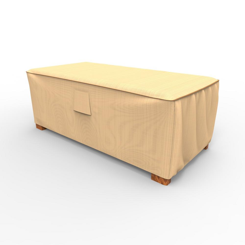 Beautiful Budge Chelsea Medium Slim Patio Ottoman / Coffee Table Covers