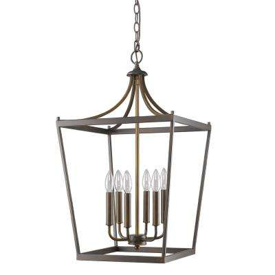 Kennedy Indoor 6-Light Oil Rubbed Bronze Chandelier