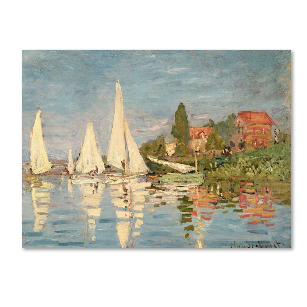 30 in. x 47 in. Regatta at Argenteuil Canvas Art
