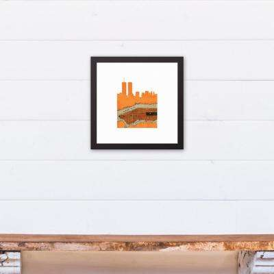 12 in. x 12 in. ''NYC Silouette'' Printed Framed Canvas Wall Art
