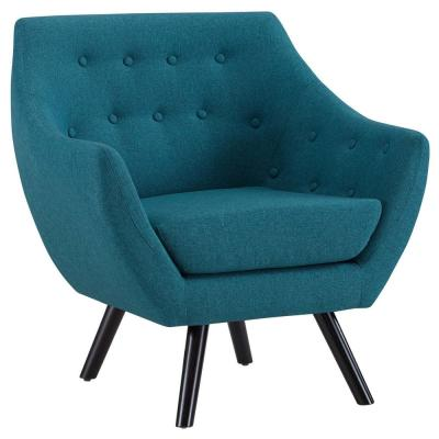 Teal Allegory Arm Chair
