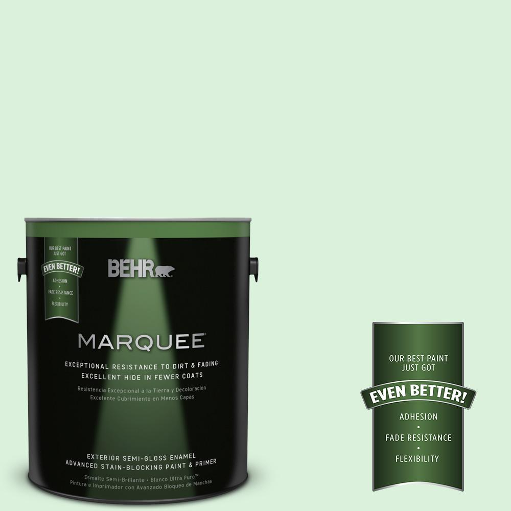BEHR MARQUEE 1-gal. #P390-1 Frostini Semi-Gloss Enamel Exterior Paint