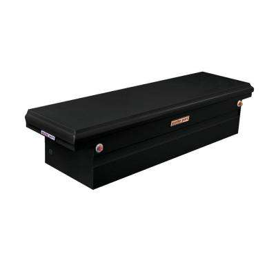 71.5 in. Steel Low Profile Saddle Box in Black