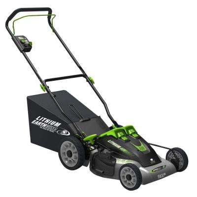 20 in. 40-Volt Cordless Battery Walk Behind Lithium-Ion Push Mower - Two Batteries/Charger Included