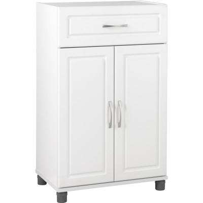 Trailwinds 38-1/4 in. H x 23-7/16 in. W x 15-3/8 in. D 1-Drawer 2-Door Base Freestanding Storage Cabinet in White