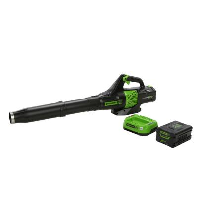 Greenworks PRO 125 MPH 450 CFM 60-Volt Battery Cordless Handheld Leaf Blower w/ 2.0 Ah Battery and Charger