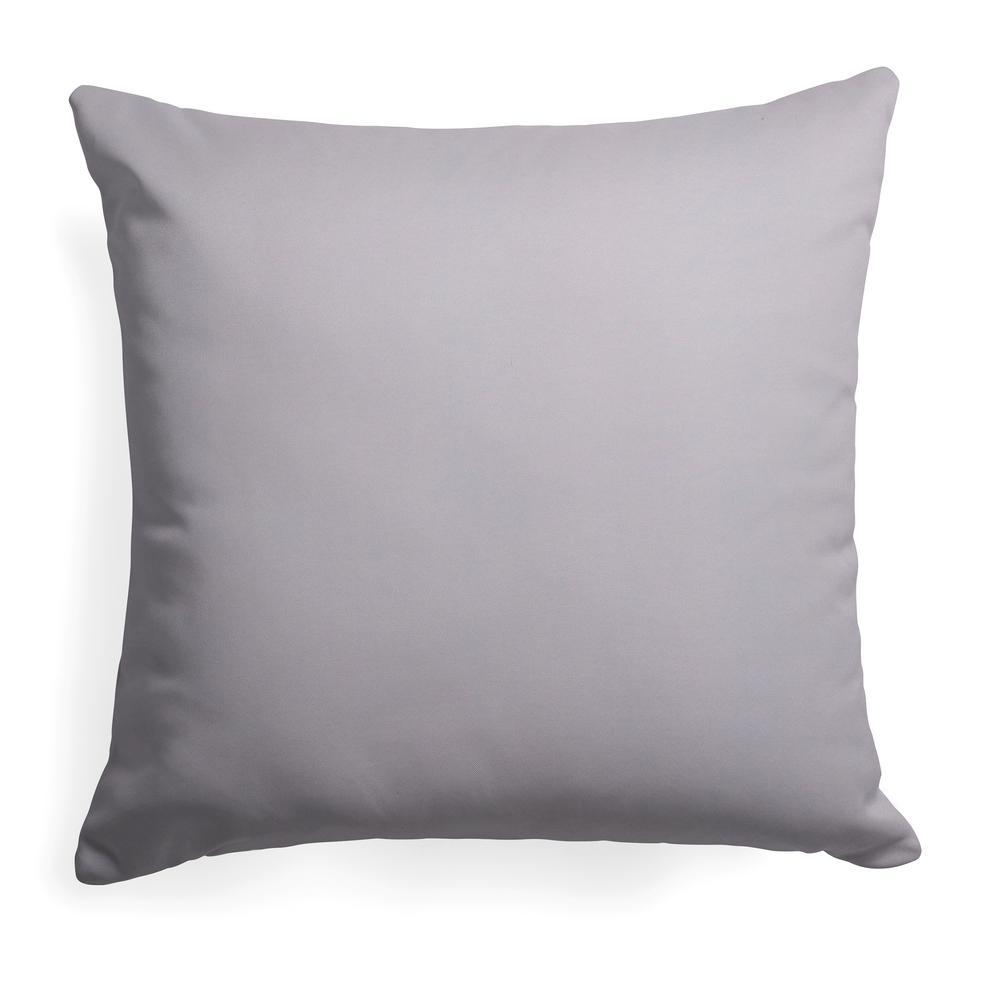 Baldwin Grey Square Outdoor Throw Pillow
