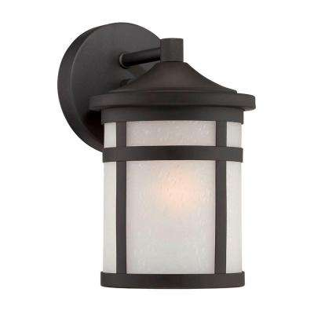 Austin 1-Light Matte Black Outdoor Wall Lantern Sconce
