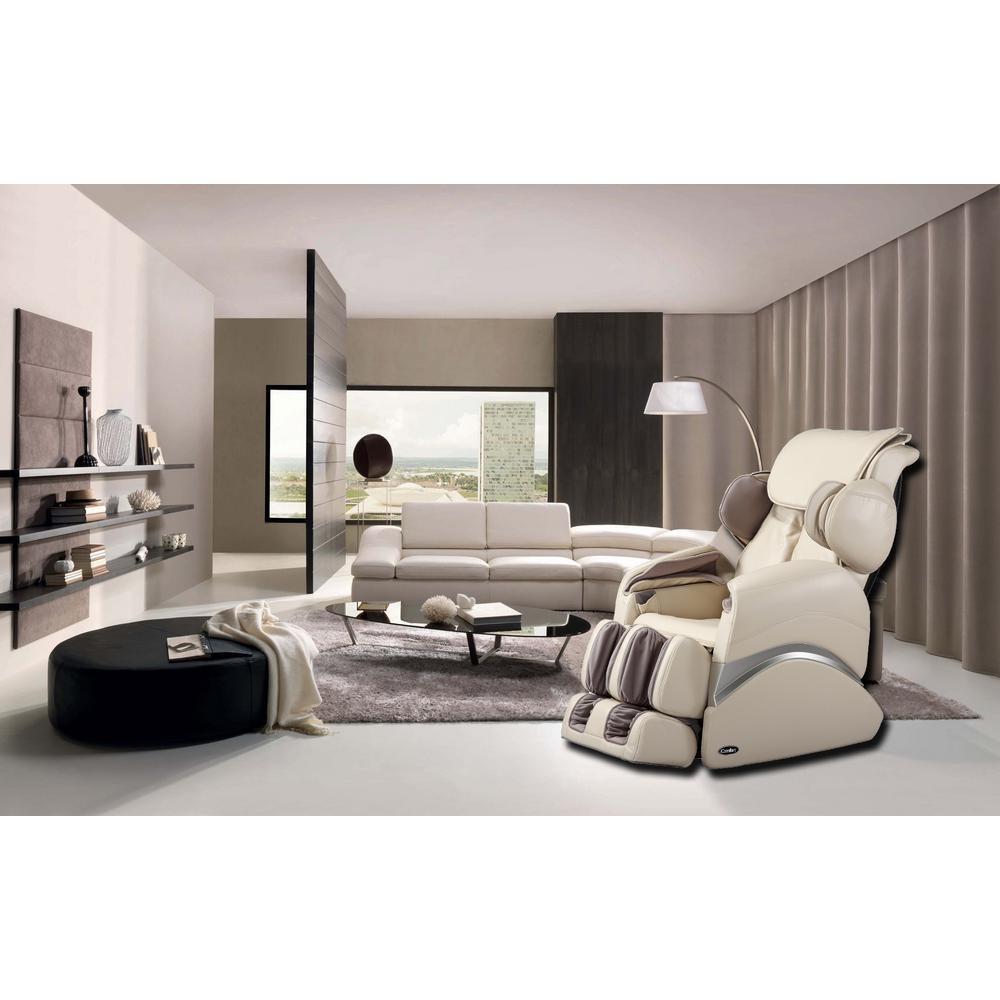 Cool Living Room Chairs. Beige Faux Leather Reclining Massage Chair Chairs  Living Room Furniture The Home Depot