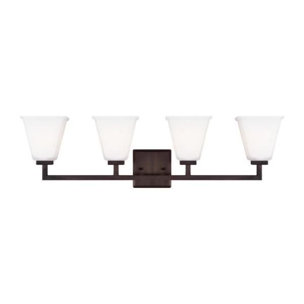 Ellis Harper 32.5 in. W 4-Light Brushed Oil Rubbed Bronze Vanity Light