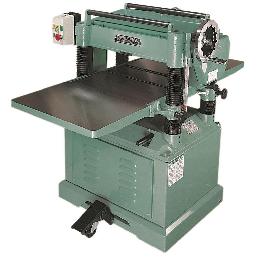 General International 220-Volt 20 in. Planer with Helical Cutter Head