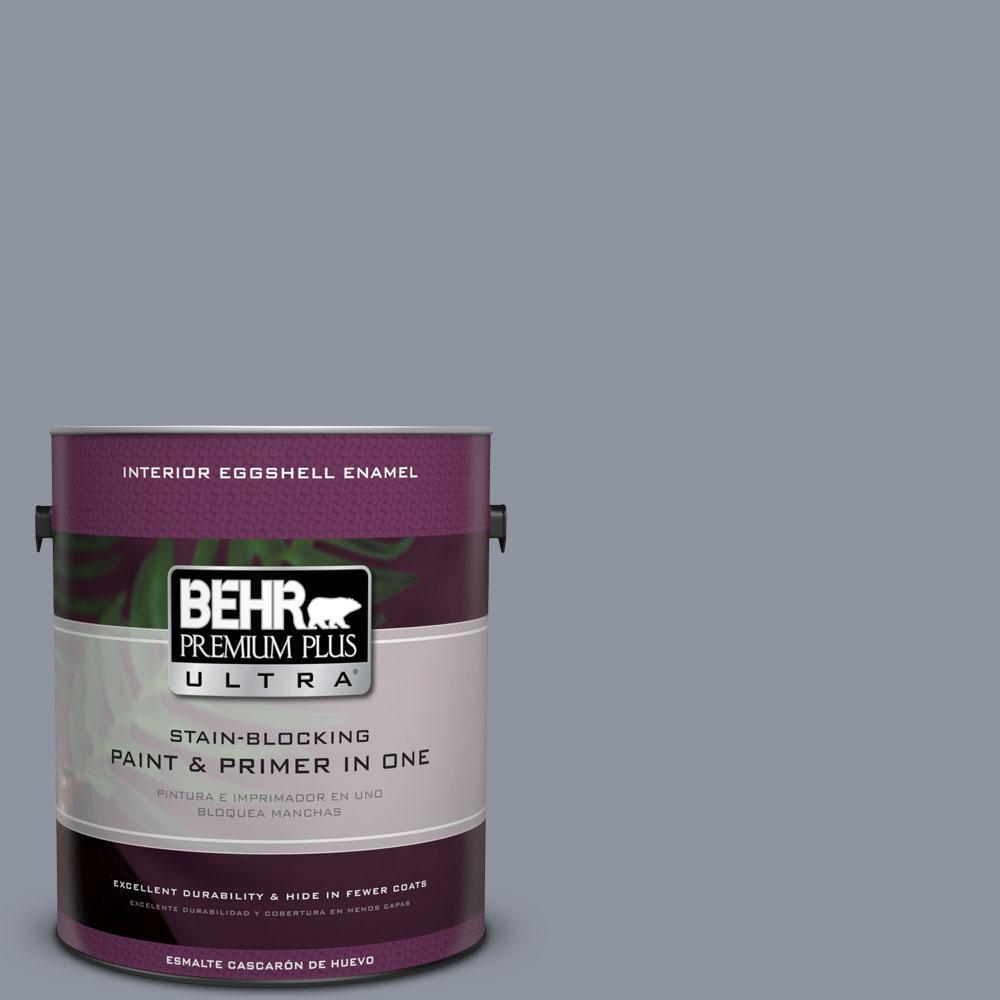 BEHR Premium Plus Ultra 1-gal. #750F-4 Raging Sea Eggshell Enamel Interior Paint
