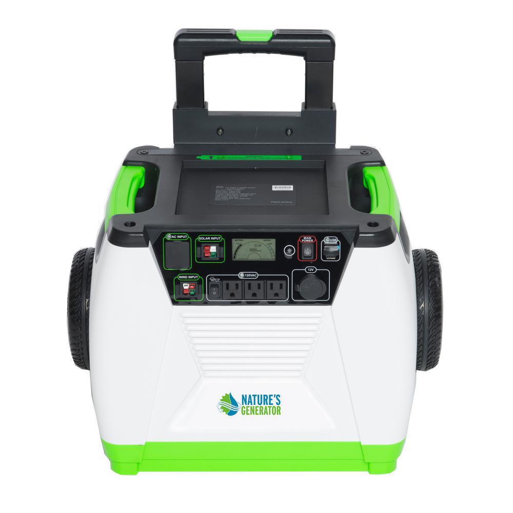 1800-Watt Solar Powered Electric Start Portable Generator with Bluetooth Monitoring