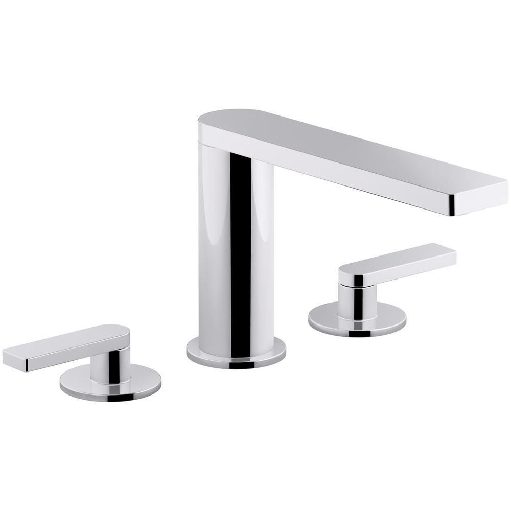Composed 8 in. Widespread 2-Handle Lever Handle Bathroom Faucet with Drain