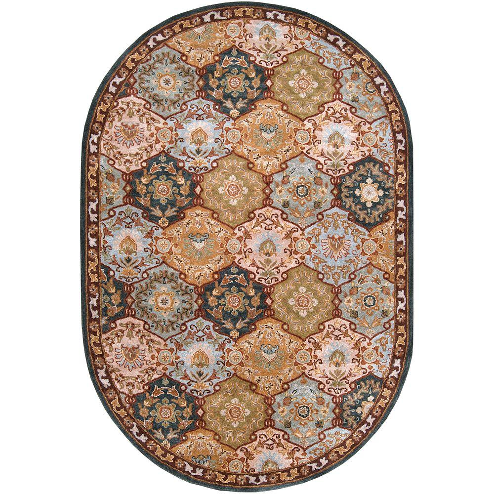 John Blue 8 ft. x 10 ft. Oval Area Rug