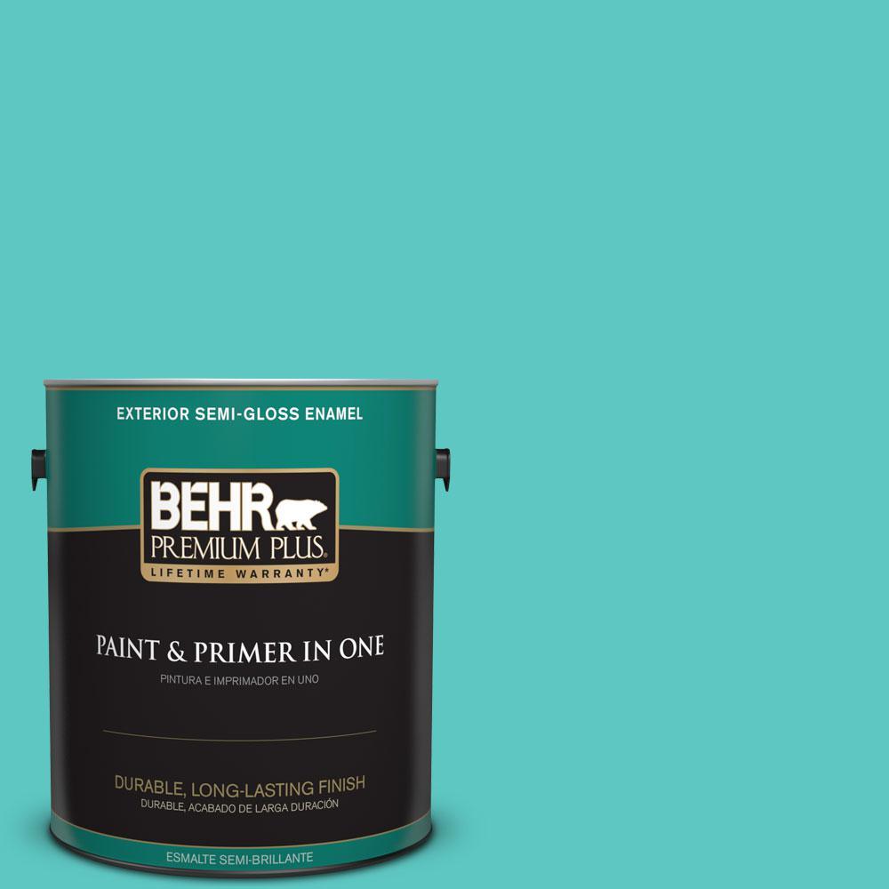 1-gal. #490B-4 Sea Life Semi-Gloss Enamel Exterior Paint