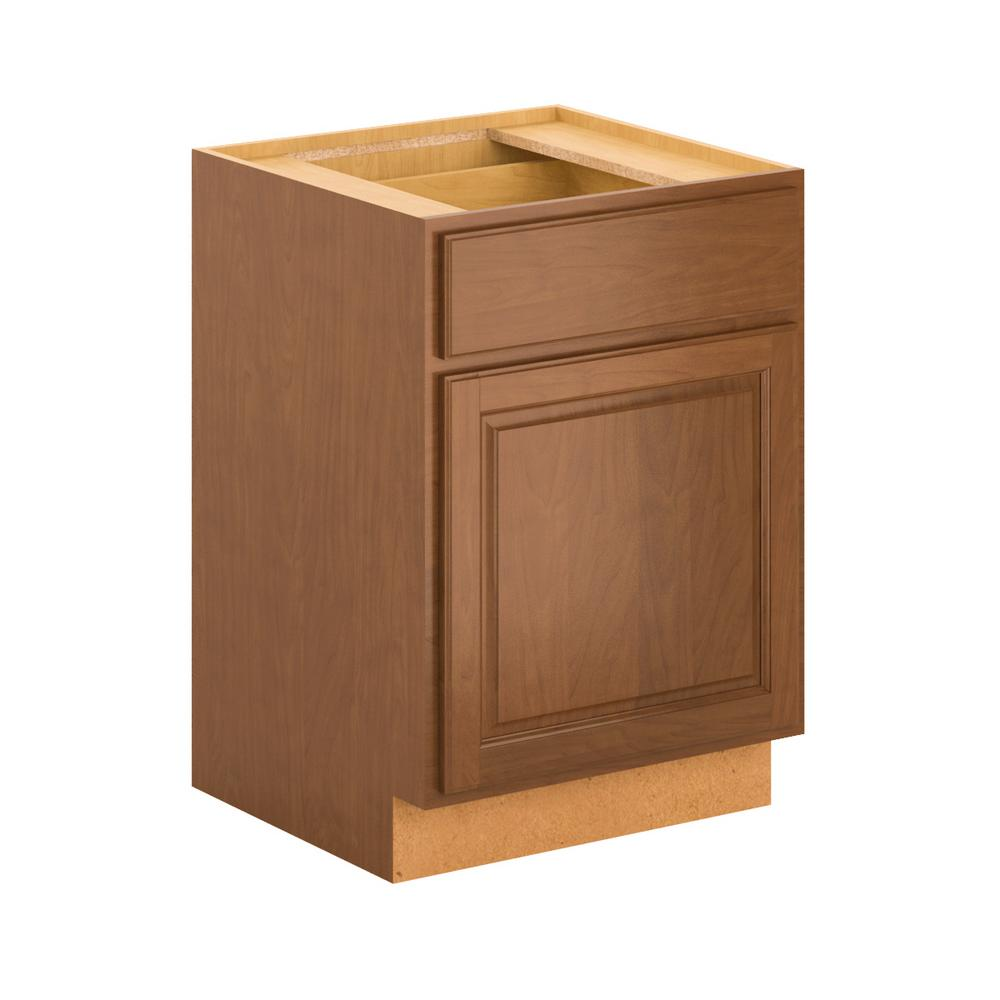 Hampton Bay Kitchen Cabinets Cognac: Hampton Bay Madison Assembled 24x34.5x24 In. Base Cabinet