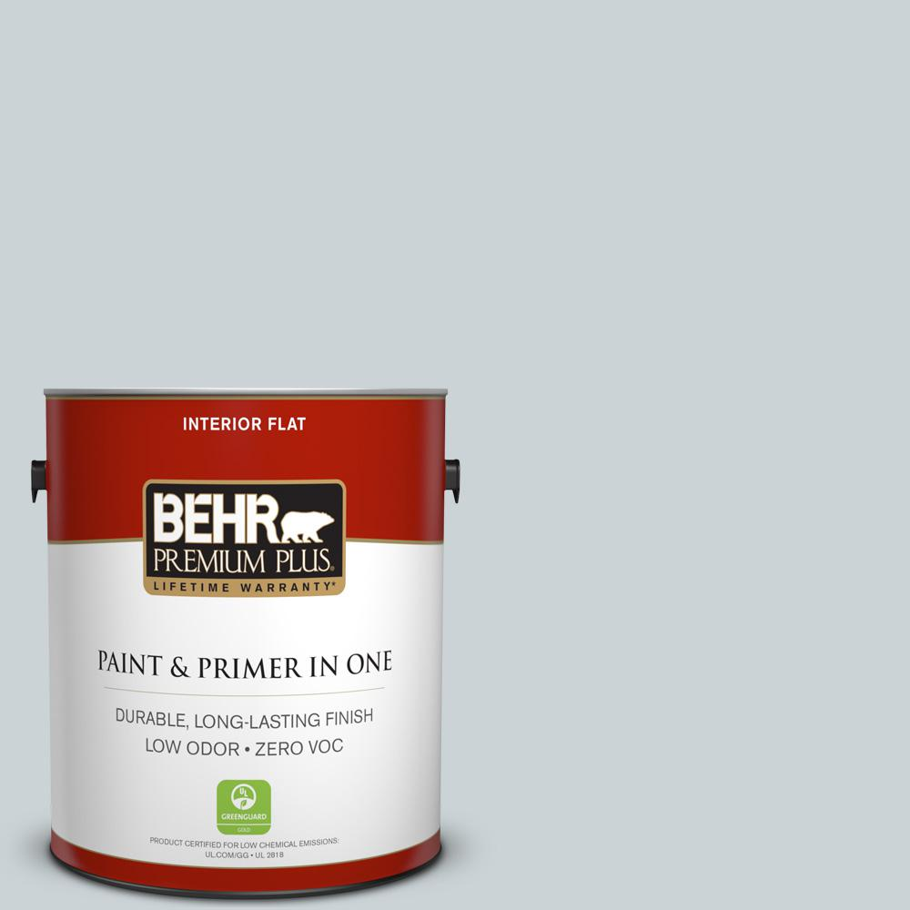 BEHR Premium Plus 1-gal. #N470-1 Ash Blue Flat Interior Paint