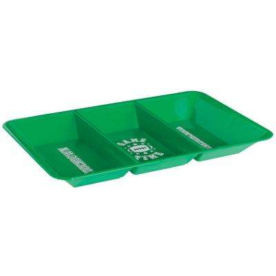 9.5 in. x 1.25 in. Football Divided Snack Tray