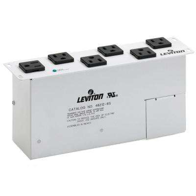 Structured Media 15 Amp AC Power Surge Module 6 NEMA Outlet, White