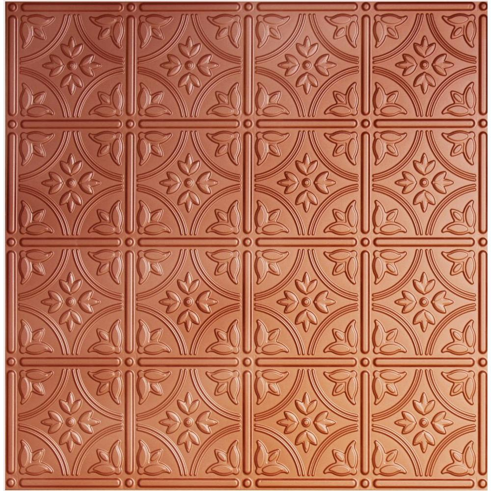 Dimensions 2 ft. x 2 ft. Copper Lay-in Tin Ceiling Tile