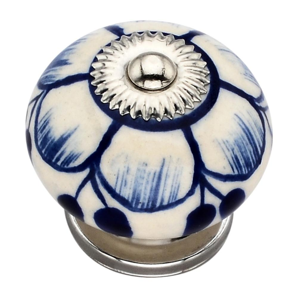 Antonio Washed 1.57 in. Blue Cabinet Knob