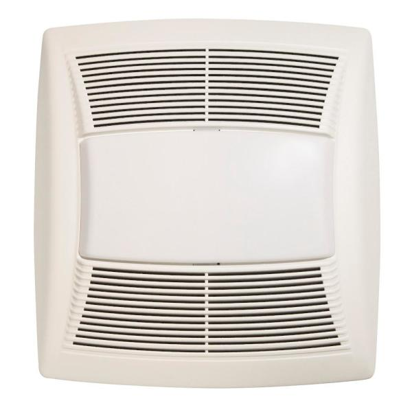 Broan Nutone Qt Series 130 Cfm Ceiling, Bathroom Exhaust Fan With Light And Nightlight