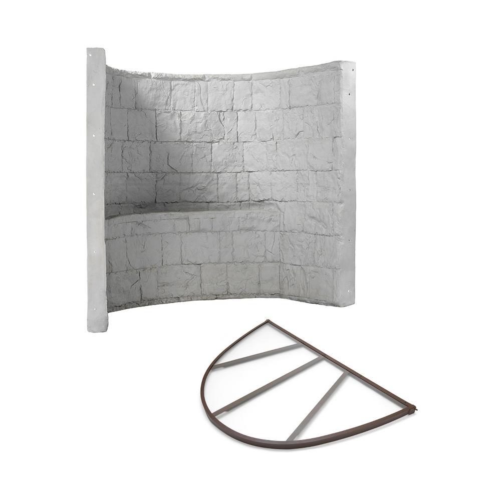 Grey Premier Composite Window Well