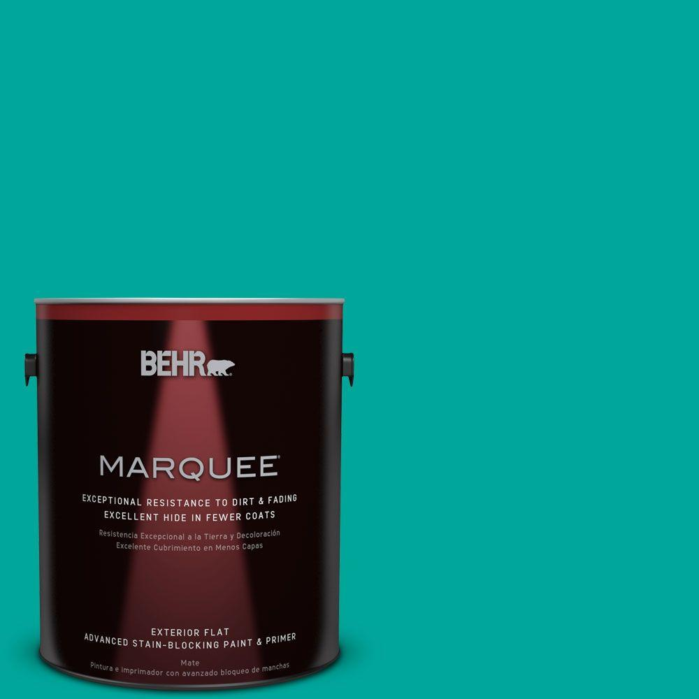 Home Decorators Collection 1-gal. #HDC-MD-22 Tropical Sea Flat Exterior Paint