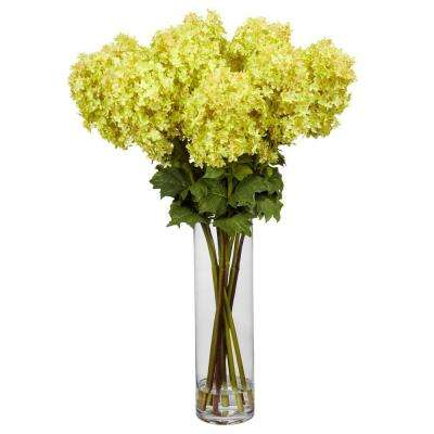 40 in. H Yellow Giant Hydrangea Silk Flower Arrangement