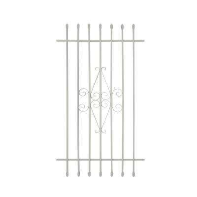 30 in. x 54 in. Spear Point 6-Bar Security Bar Window Guard, White