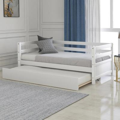 White Bechtold Daybed with Trundle Frame Set