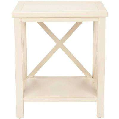 Sahara Off-White Storage End Table