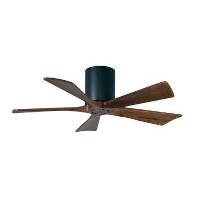 Atlas Irene 42 In Indoor Outdoor Matte Black Ceiling Fan With Remote Control And Wall Control Ir5h Bk Wa 42 The Home Depot