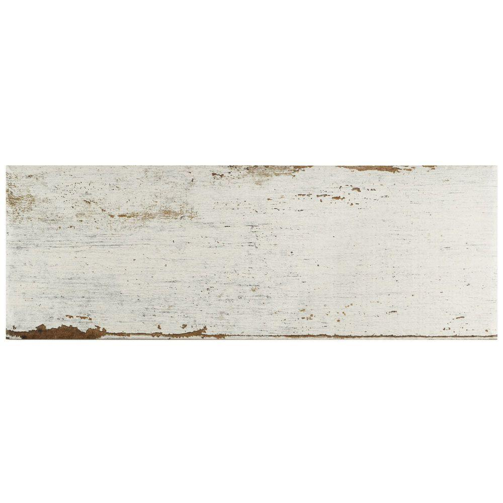 Merola Tile Retro Blanc 8-1/4 in. x 23-1/2 in. Porcelain Floor and Wall Tile (11.22 sq. ft. / case)
