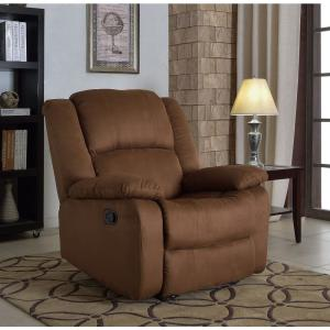 Samantha Chocolate Microfiber Recliner by