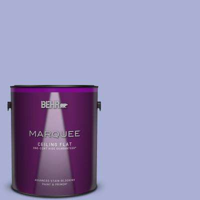 1 gal. #MQ4-30 Lavender Wash One-Coat Hide Ceiling Flat Interior Paint and Primer in One