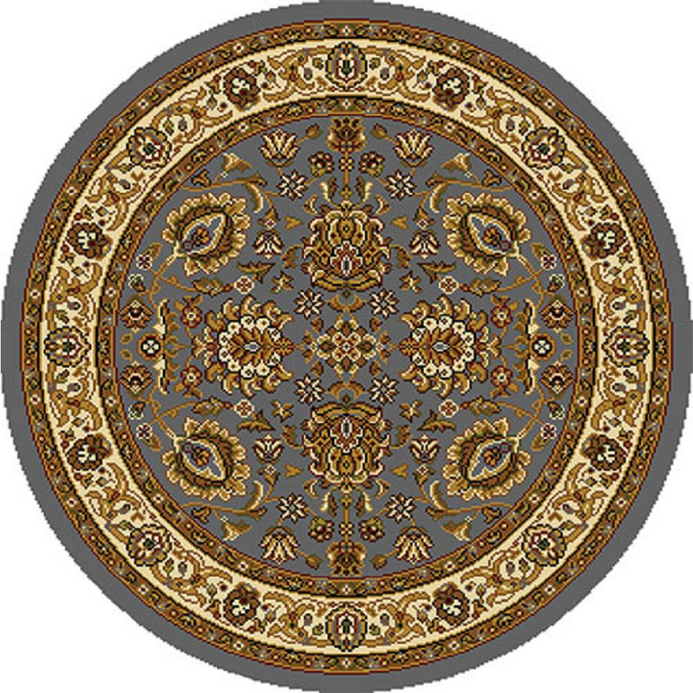 Oriental Rugs Grand Rapids: Home Dynamix Royalty Blue/Ivory 8 Ft. X 8 Ft. Round Indoor
