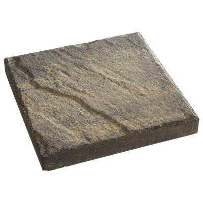 12 in. x 12 in. Charcoal/Tan Slate Top Concrete Step Stone
