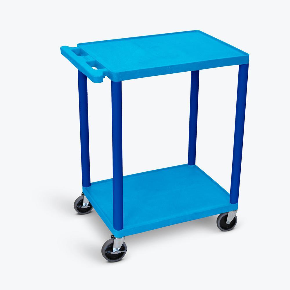 HE 24 in. W x 18 in. D x 33.5 in. H Utility Cart in Blue