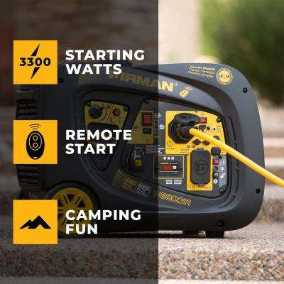 3300/3000 Watt Remote Start Inverter Portable Generator CARB and cETL Certified