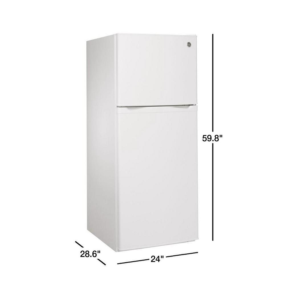 Ge 11 6 Cu Ft Top Freezer Refrigerator In White Energy Star